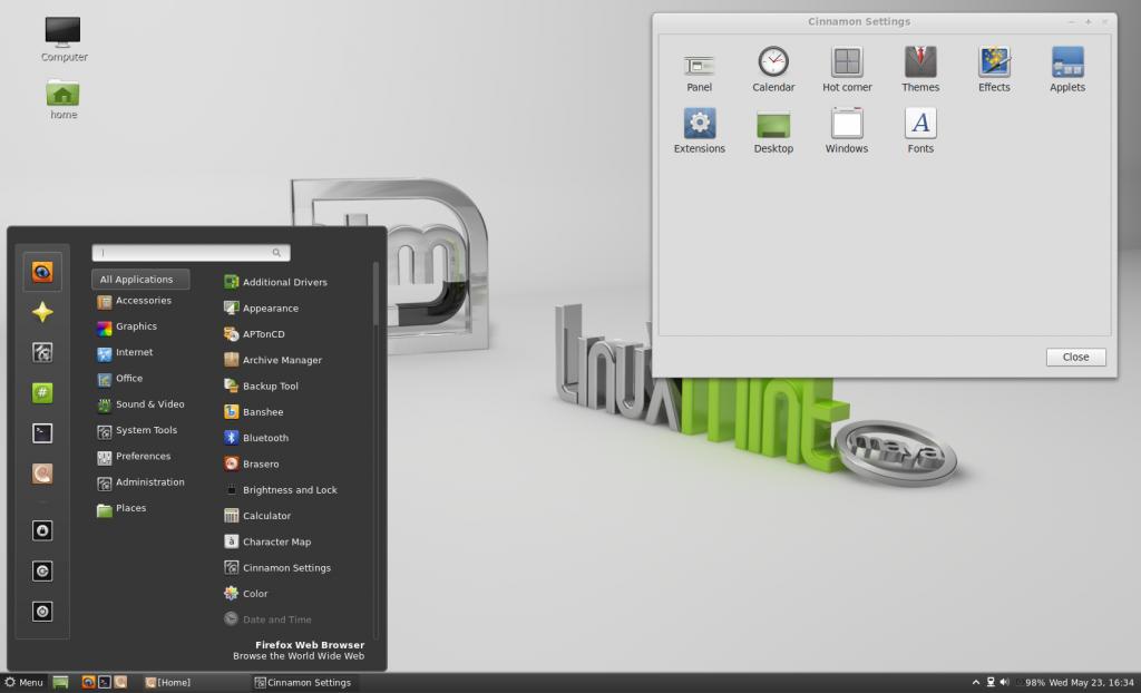 Как установить графическую оболочку в линукс минт