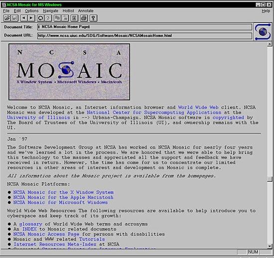 Mosaic браузер - фото 3