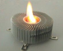 горящий CPU