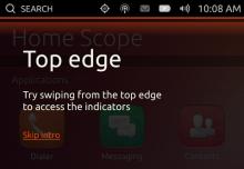 интерактивный тур Ubuntu Touch