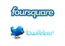 Twitter и Foursquare