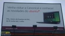 Рекламный щит Dell и Ubuntu