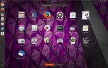 GNOME Shell с темой Ambiance