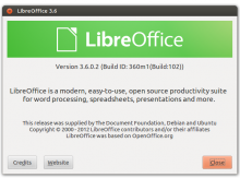 о программе LibreOffice 3.6