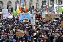 демонстрация против ACTA
