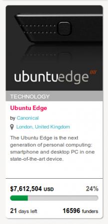 блок Ubuntu Edge