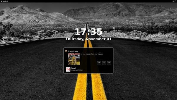 уведомления на экране блокировки в GNOME 3.6