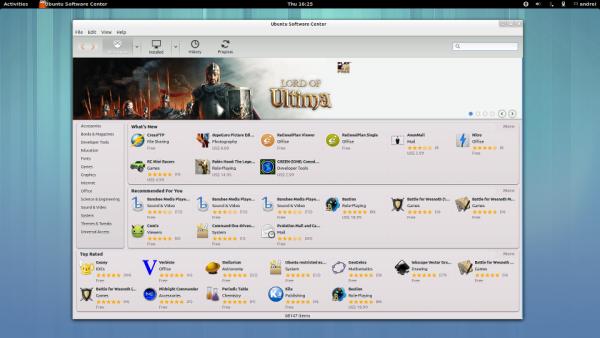 Центр приложений в Ubuntu GNOME Remix 13.04