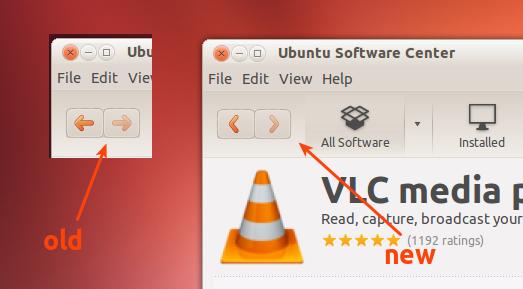 навигационные иконки Ubuntu 12.10