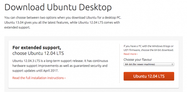 загрузка Ubuntu