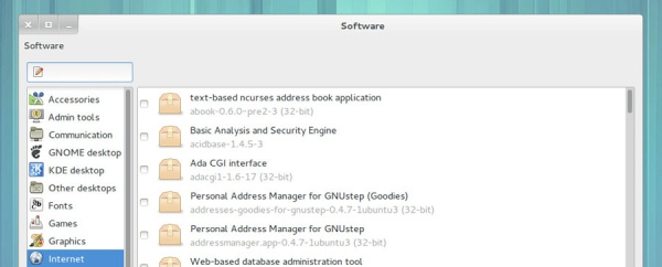 Software в Ubuntu GNOME Remix
