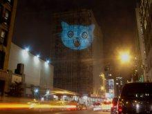 The Cat Signal на здании Нью-Йорка