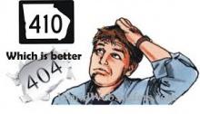 Ошибки 404 и 410