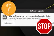 обновление Ubuntu 21.04