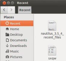 доступ к недавним документам в Nautilus