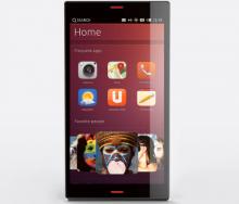 Демонстрация интерфейса Ubuntu Touch