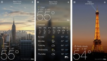 приложение для андроид Yahoo Weather