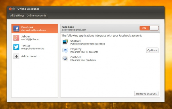 Ubuntu Online Accounts