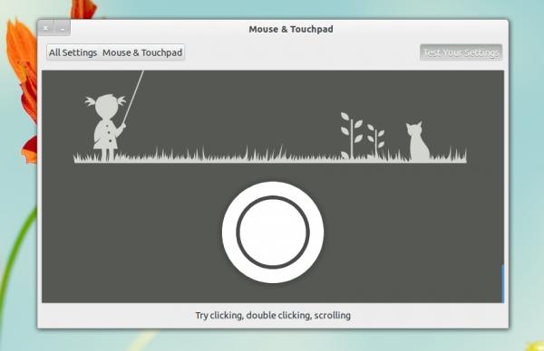 проверка мыши в GNOME Control Center 3.6
