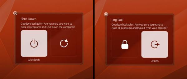 Новые диалоги выключения компьютера в Ubuntu 13.04
