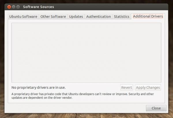 Новый диспетчер драйверов Ubuntu 12.10