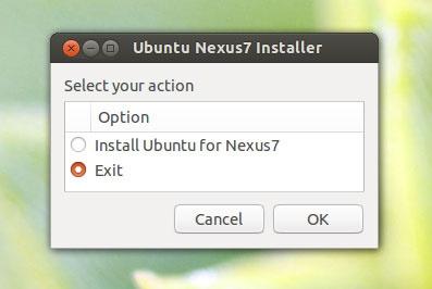установщик Ubuntu на Nexus 7