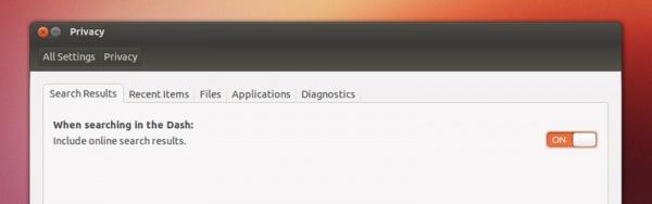 Отключение онлайн-результатов поиска Dash