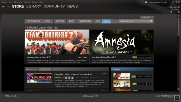 Открытая бета-версия Steam for Linux