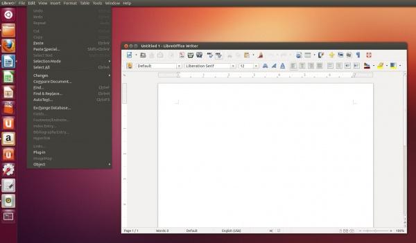 поддержка appmenu в LibreOffice
