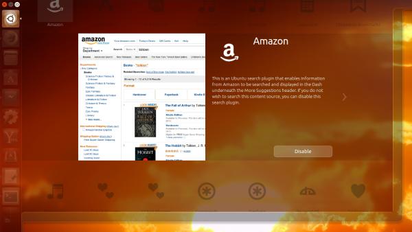 отключение плагина Amazon