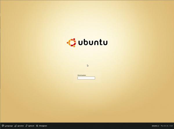 логин Ubuntu 4.10 Warty Warthog